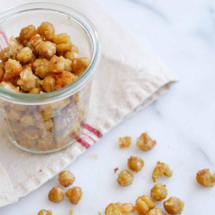 Oven Roasted Garlic Parmesean Chickpeas