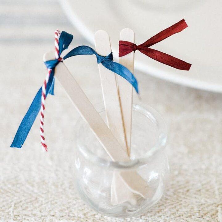 Fourth of July Party Ideas: DIY Cocktail Stir Sticks