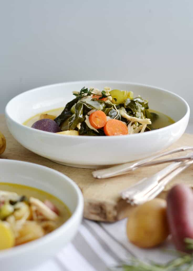 Detox Chicken and Vegetable Soup (Paleo Friendly)