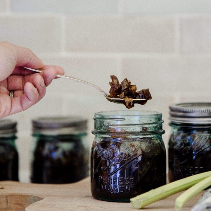 Orange Rhubarb Chutney Recipe with Ball® Fresh Preserving