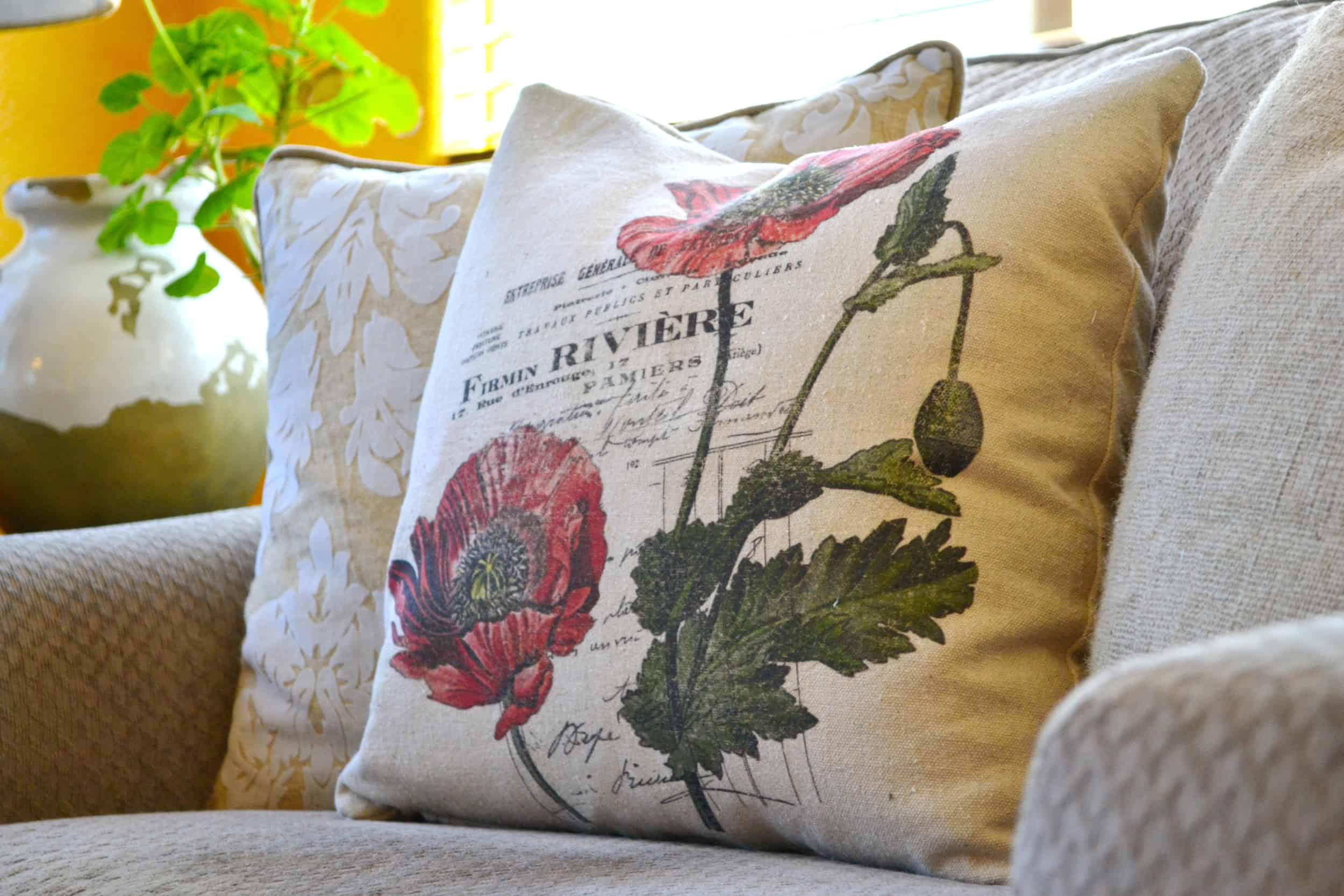 One of my pillows - oh, how styles have changed!