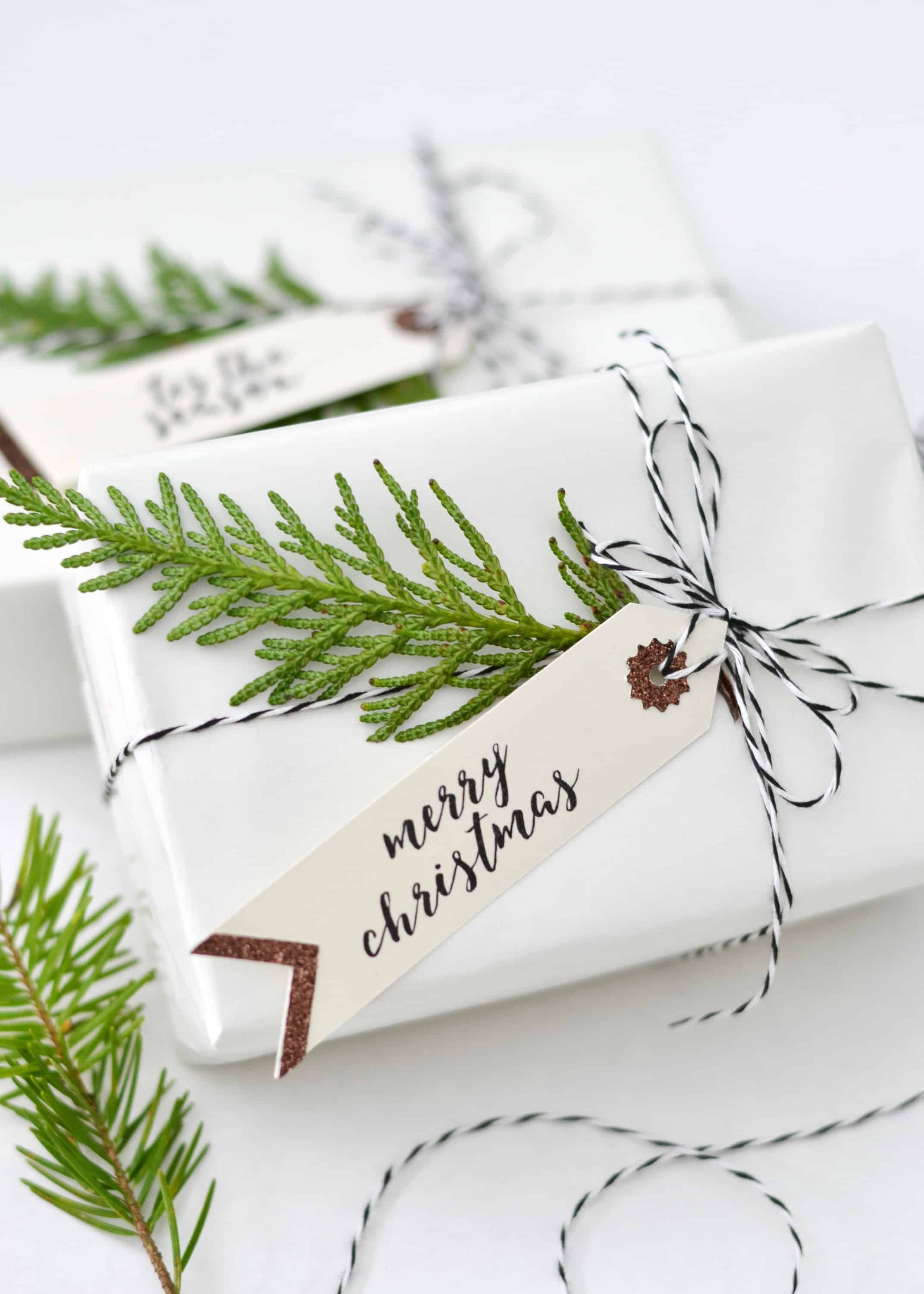These free printable Christmas tags are the perfect finishing touch to your Christmas packages this year! These tags were hand painted just for Boxwood Avenue readers, and I am so excited to share them with you!