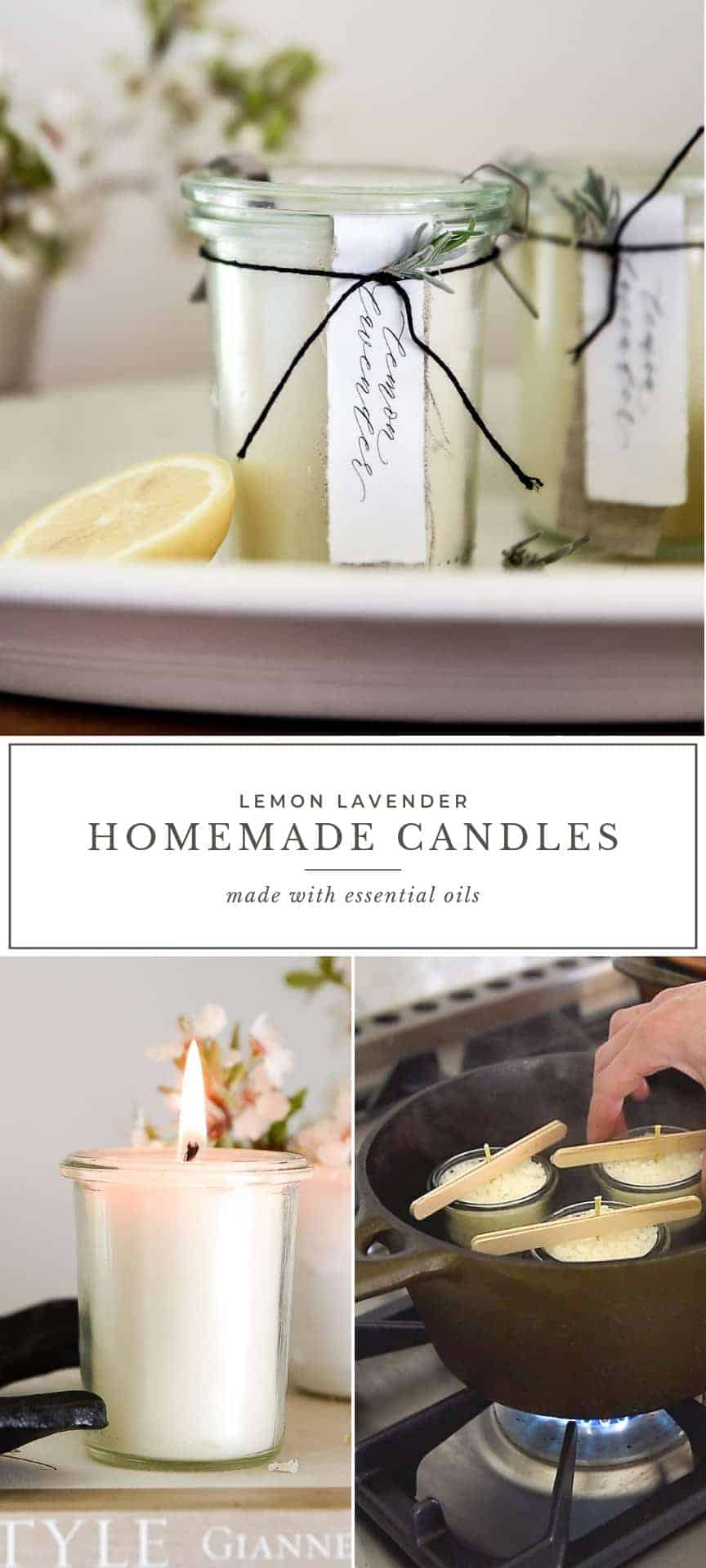 Homemade Candles With Essential Oils Diy Lemon Lavender Candle Boxwood Ave