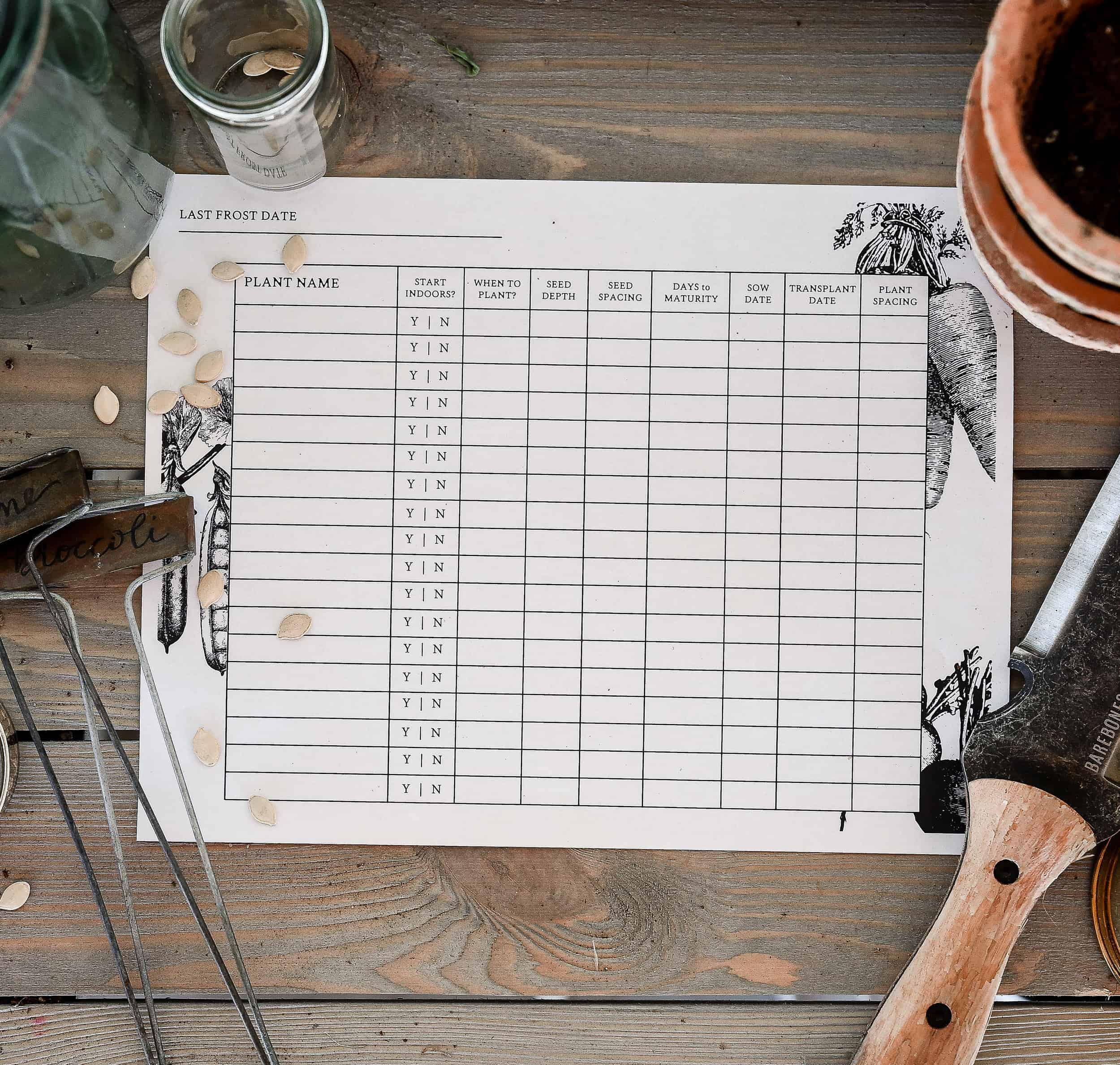 Live in a cooler climate with a limited growing season? Start your seeds indoors for an a jumpstart on your vegetable garden! Learn how to start seeds indoors in this easy to follow post, plus download my free printable seed starting log book!