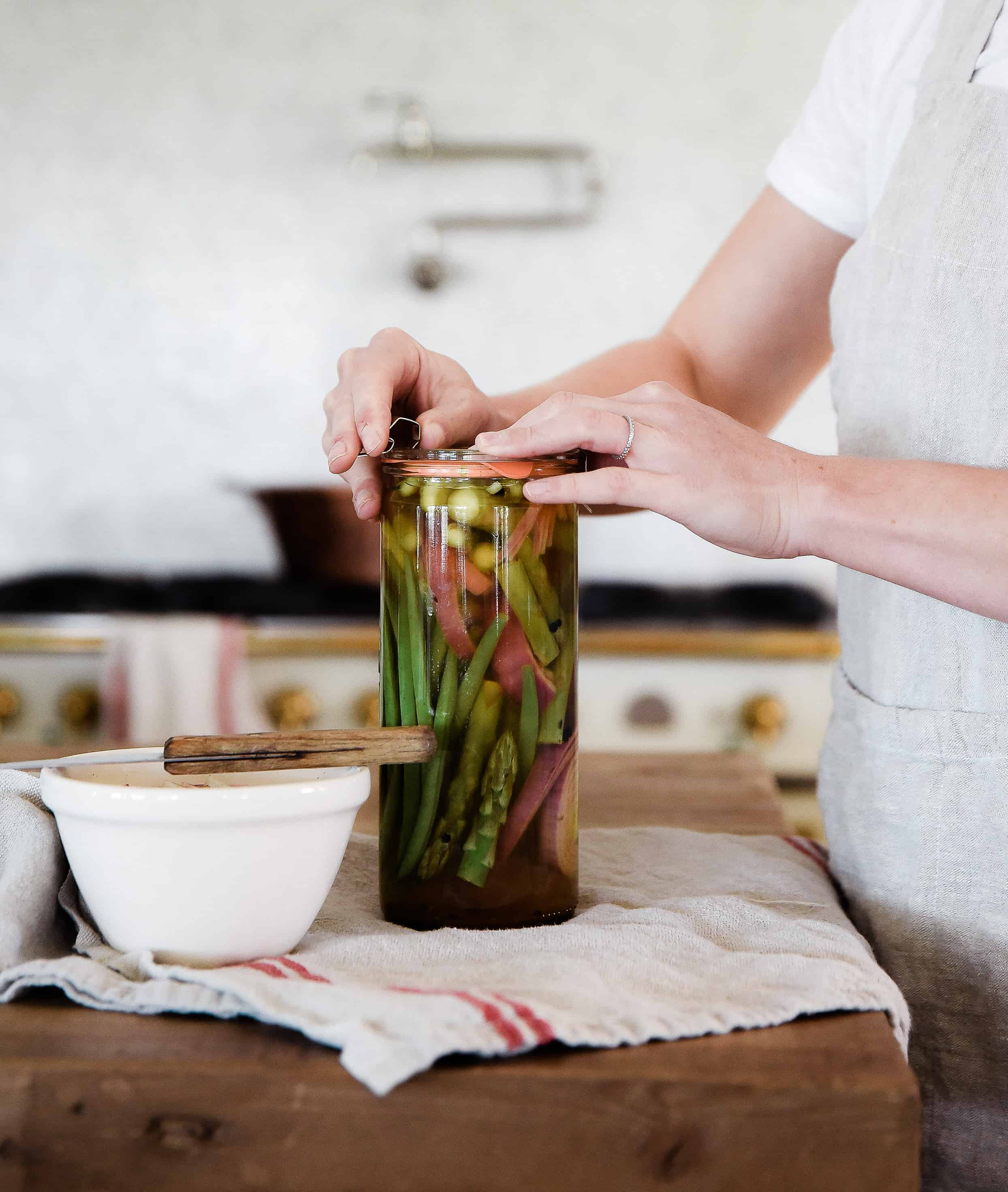 Learn how to make pickled veggies! Refrigerator pickles are the perfect way to enjoy your summer garden harvest!
