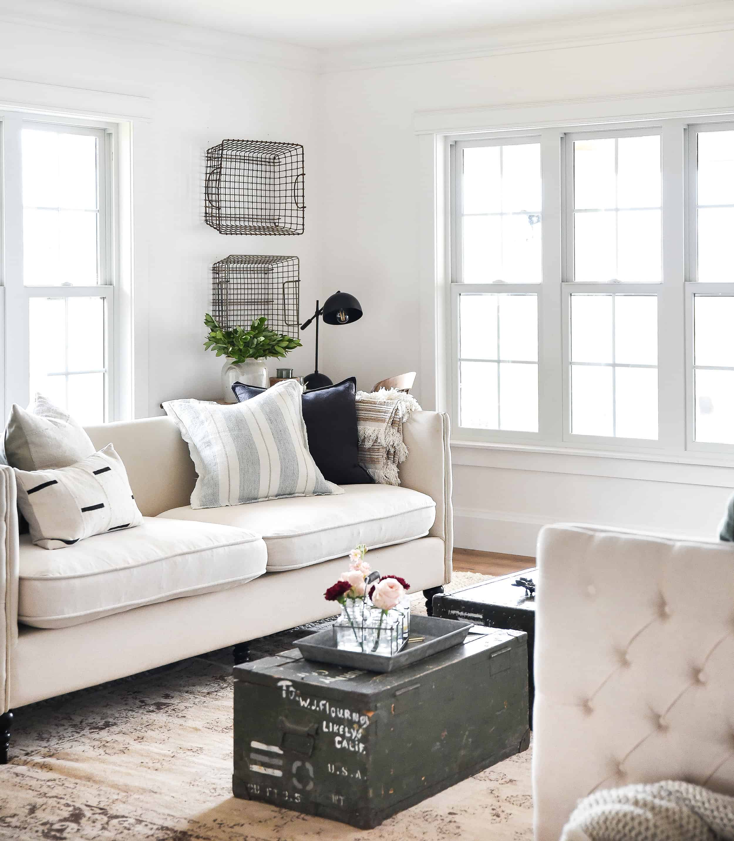 Although spring hasn't quite arrived, I have already started to change things around hoping to usher in the new season! Take a peek into our spring home and get inspired with decor ideas for your own home!