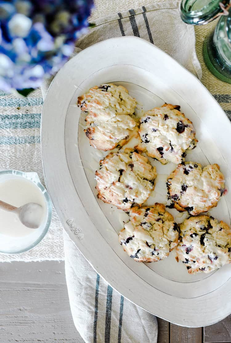 Scones with a lemon glaze are easy and delicious! A tried and true recipe to keep in your back pocket!