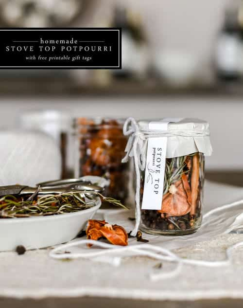 Use simple seasonal ingredients to make this handmade christmas gift;an easy stove top potpourri recipe that packs a serious punch!