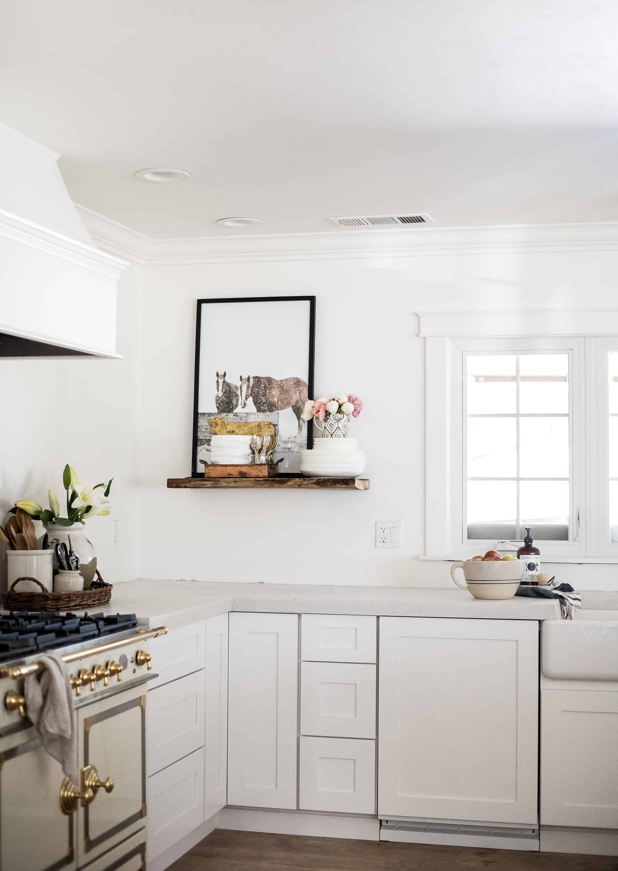 A peek into our almost finished kitchen! Join me for the Simply Summer home tour and visit 20 other blogging friends' summer homes!