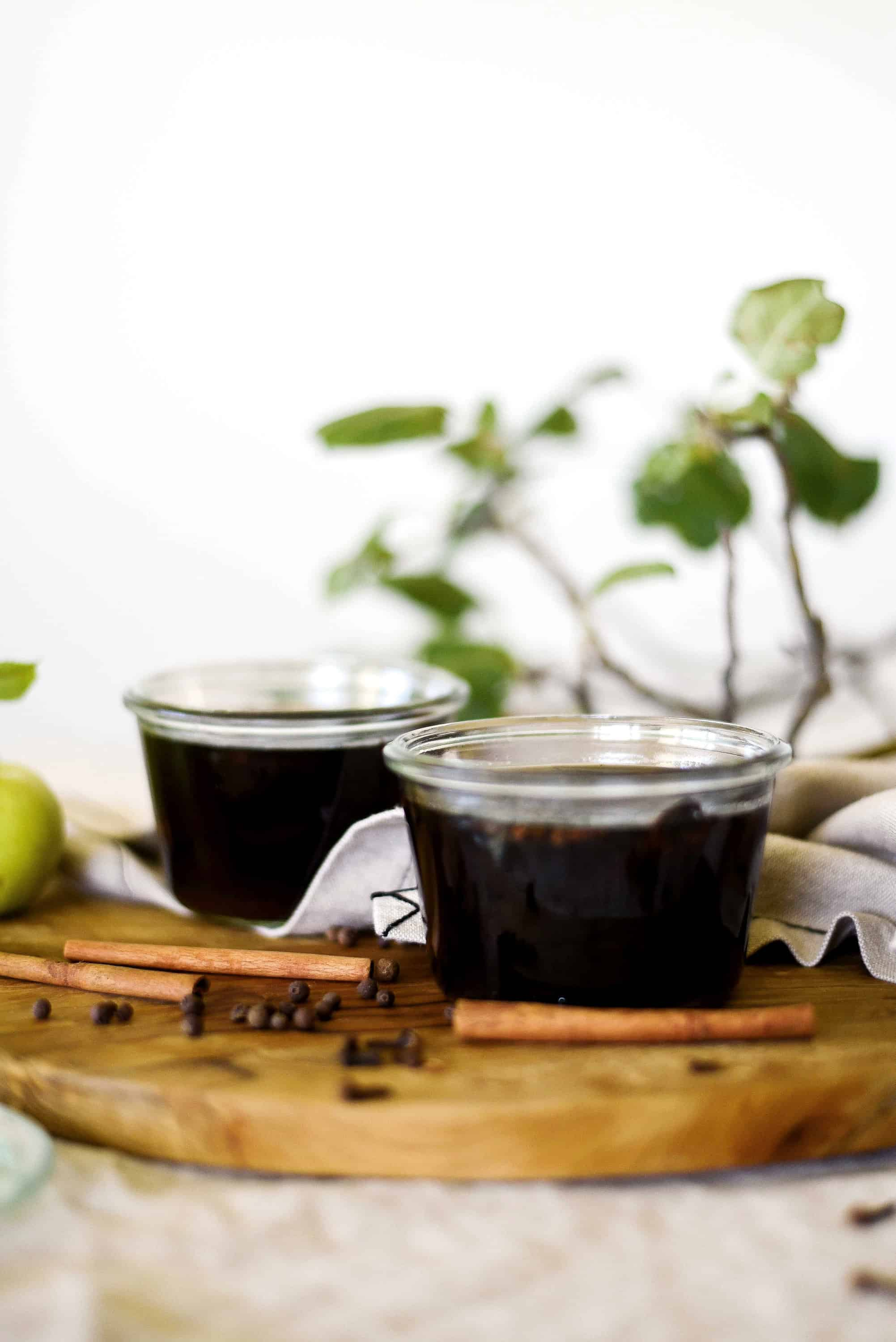 An easy spiced syrup recipe for cocktails or a handmade gift!