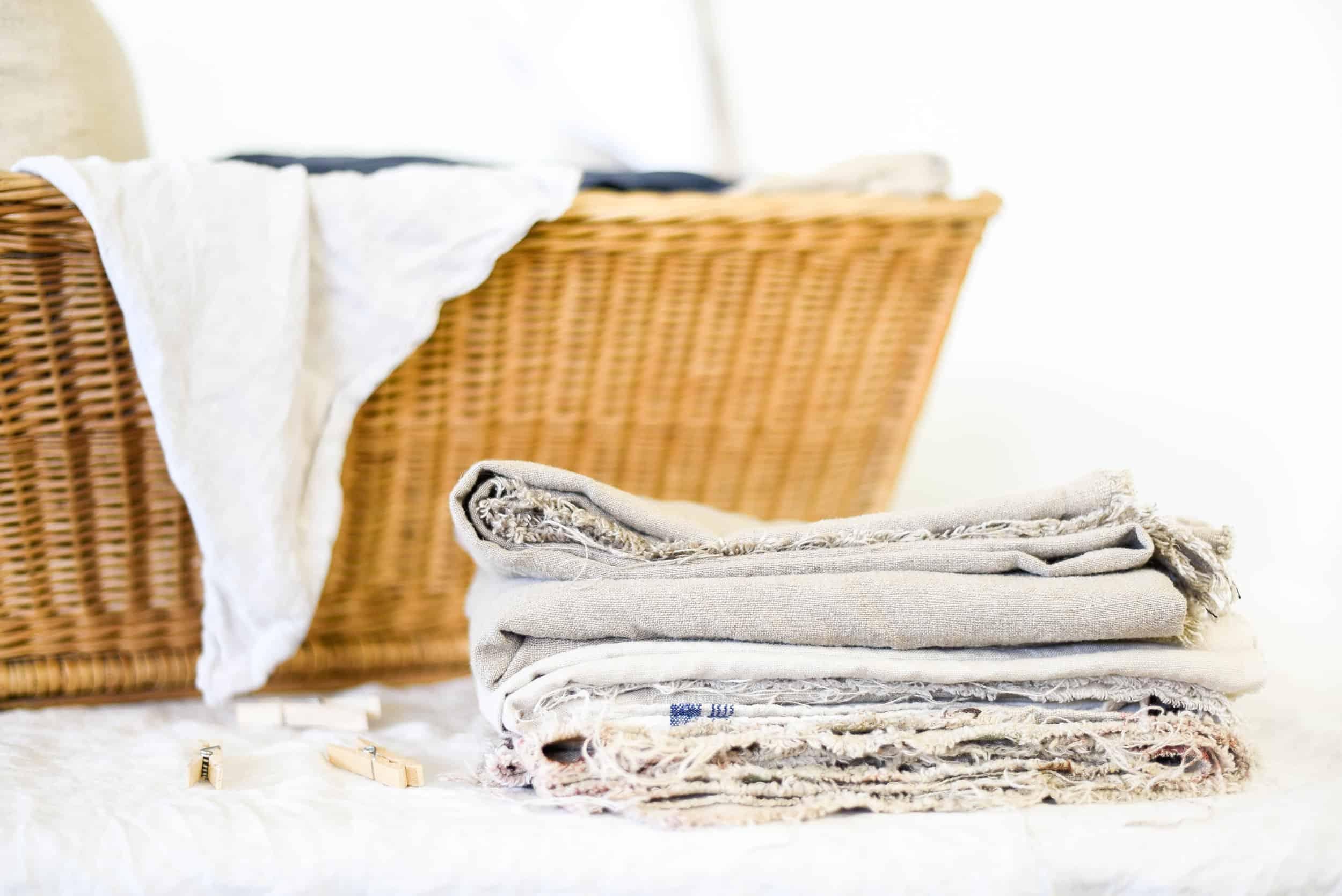 linen in a basket