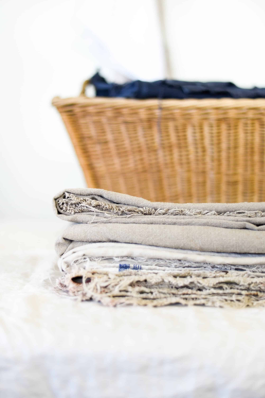 folded linen fabric