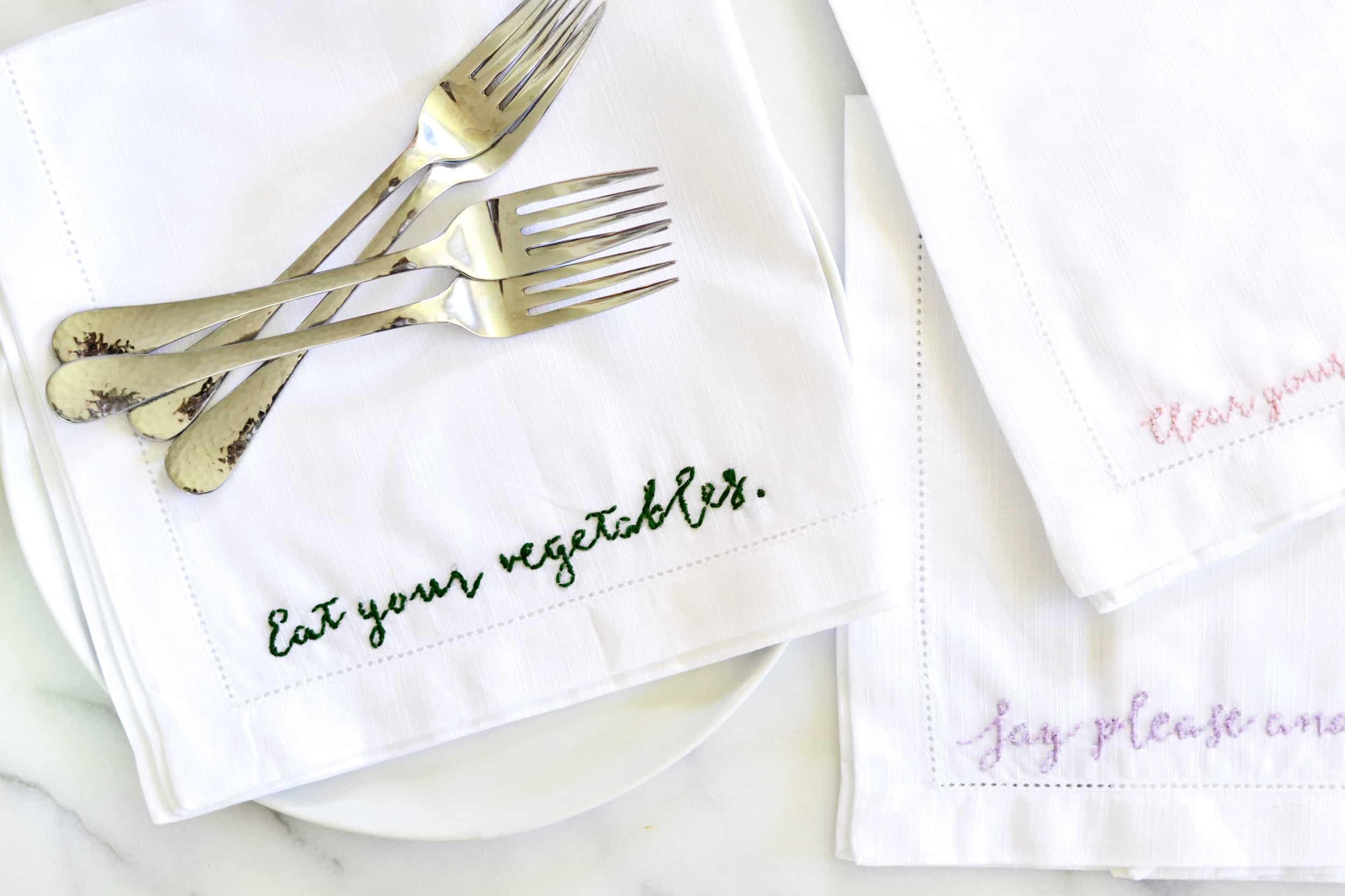 embroidered napkins