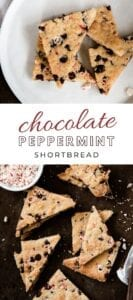 Delicious Chocolate Peppermint shortbread cookie recipe!!