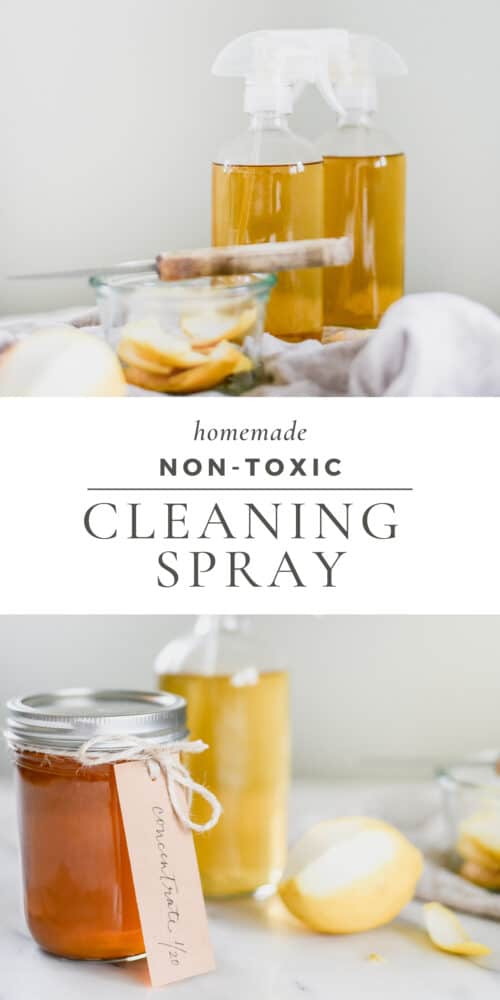 Glass Bottles with Homemade Countertop Spray