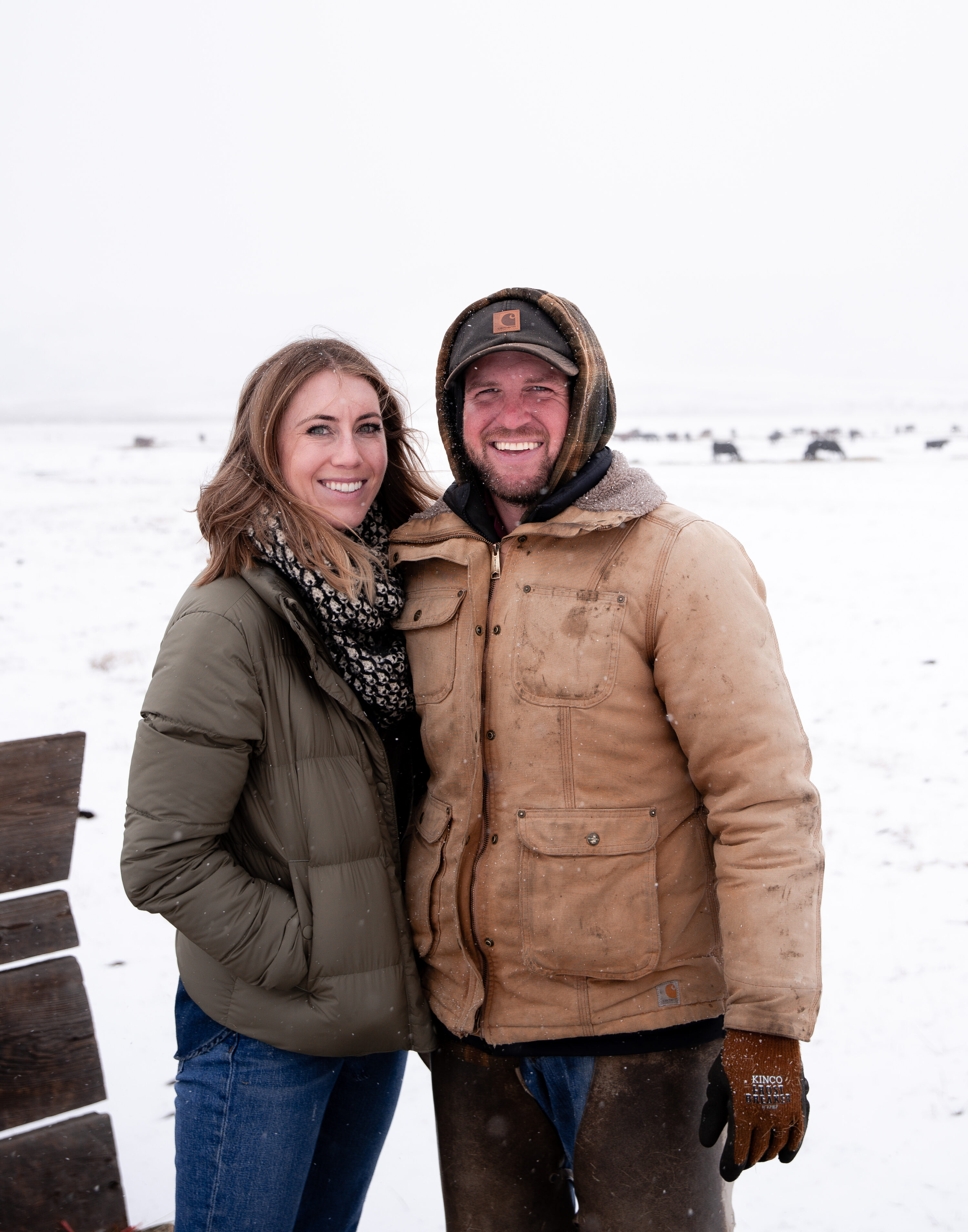 Husband and Wife cattle ranchers