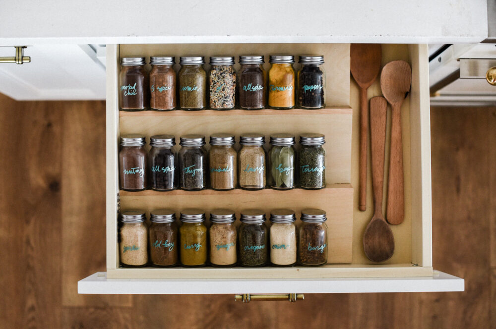 Organized Spice Drawer Ideas!