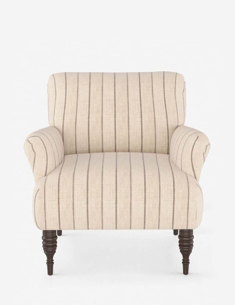 Transitional Striped Living Room Chair