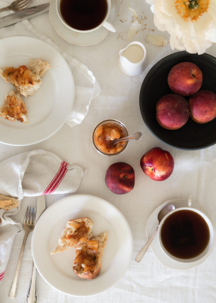 Peach and Toasted Almond Jam