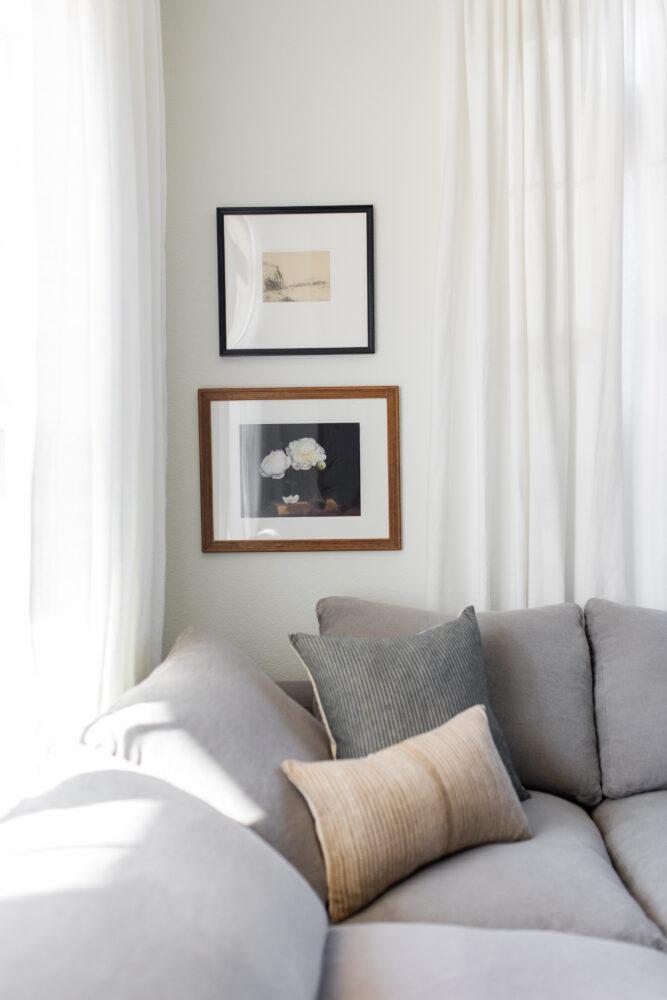 Gallery Wall Artwork in Living Room