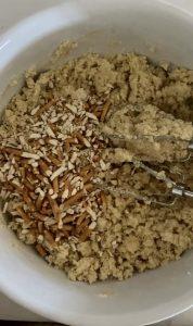 Pretzels in cookie mix for pretzel bars