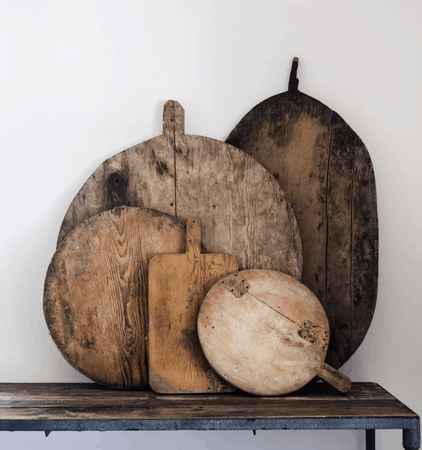 Vintage wood cutting boards from Boxwood Avenue